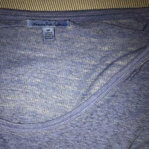 American Eagle blue quarter sleeve